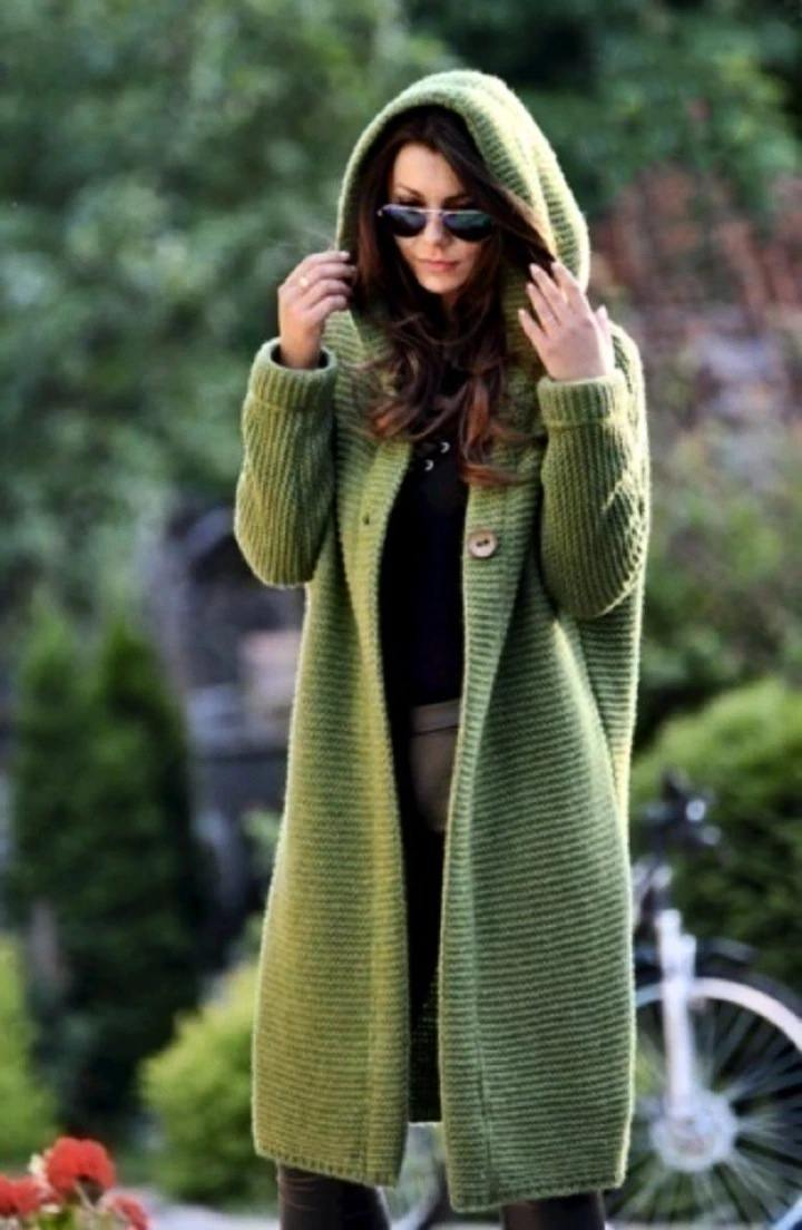 Mid-length spring and autumn cardigan hooded jacket(Free Shipping)