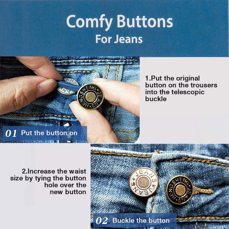 Jeans Retractable Button ??3PCS??