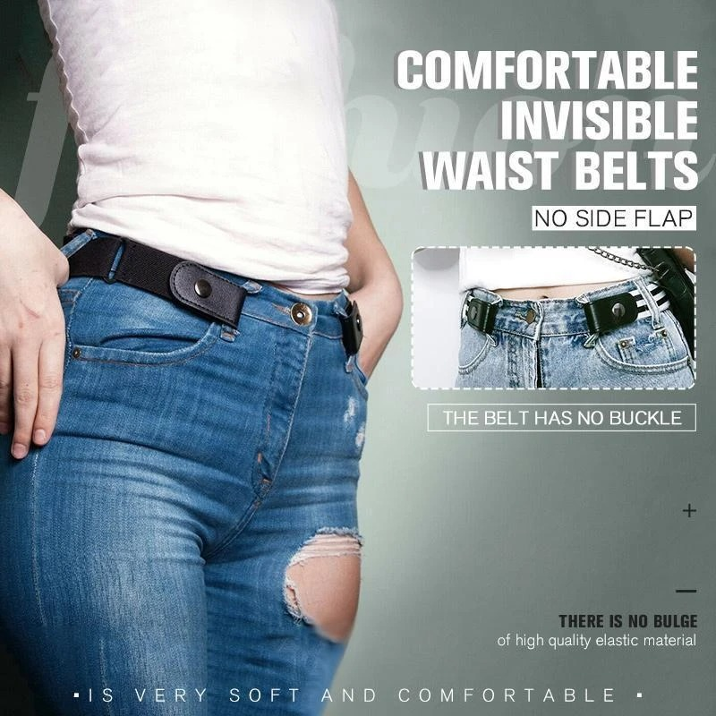 (Father's Day Sale-50% OFF) Buckle-Free Invisible Elastic Waist Belts