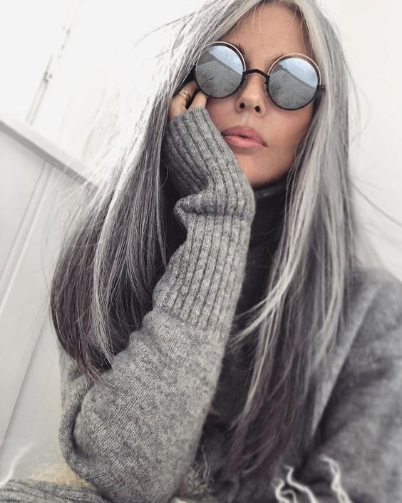 2020 New Gray Hair Wigs For African American Women Natural Afro Wig Growing Out Grey Grey Hair In 20S Gray Brown Hair Color Tsuyu Wig