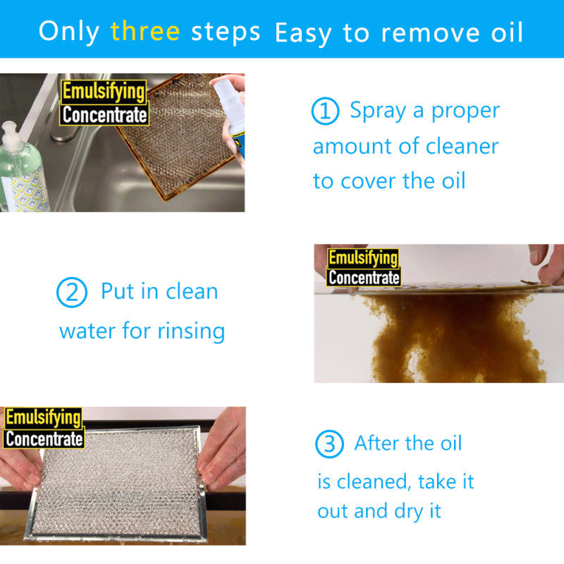 (50% OFF)Kitchen Agent Grease Cleaner Multi-purpose Spray Cleaner