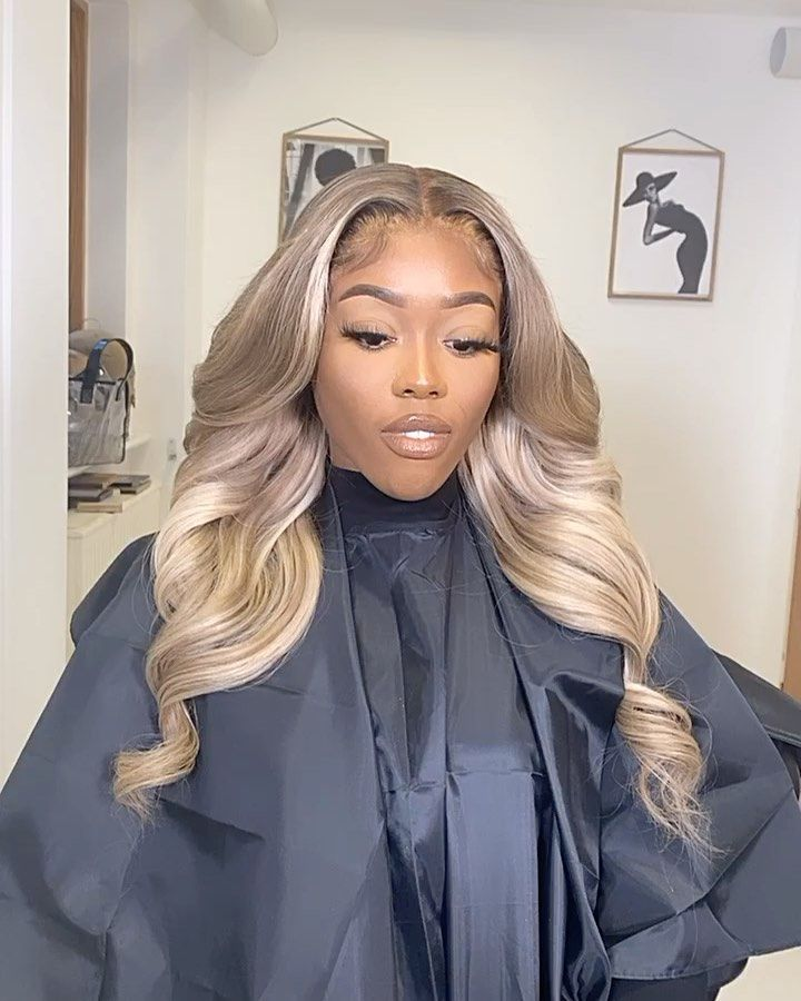 Lace Front Wigs Brown Wigs Blonde Wigs Kinky Straight Blonde Hair Warm Platinum Blonde Wigs For Black Women
