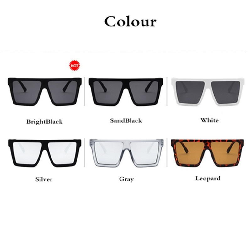 Fashion Oversized Multicolor Gradient Sunglasses Female 2019 Luxury Brand Designer Box Outdoor Beach Ladies UV400 Sunglasses