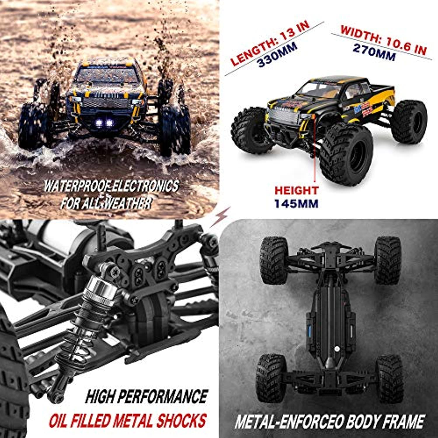 1:12 Large Size Off Road Remote Control Fast Racing Hobby Car 45 Km/h High Speed