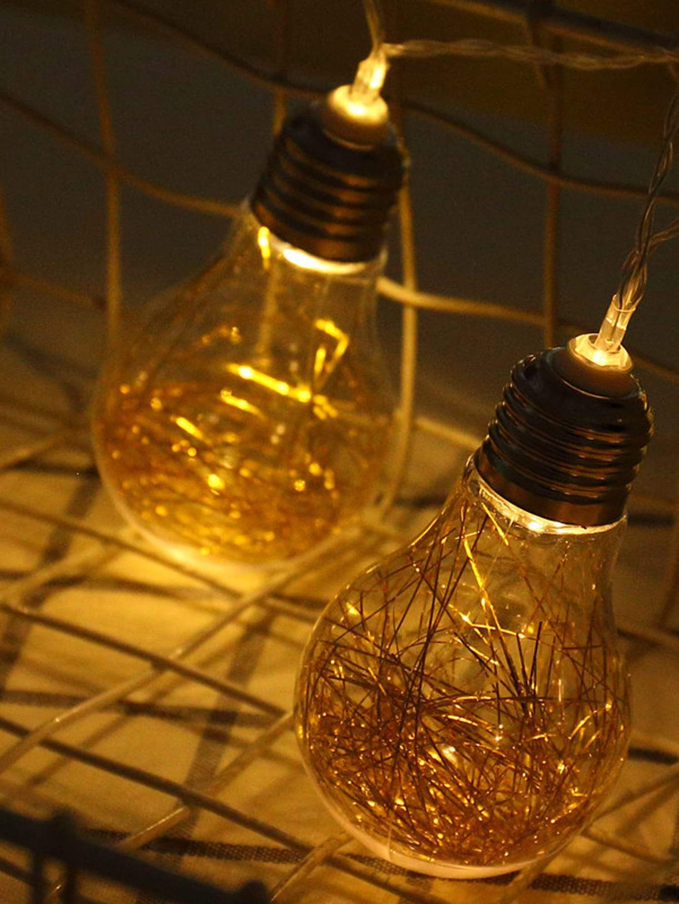 8pcs Copper Wire Decor Bulb String Light