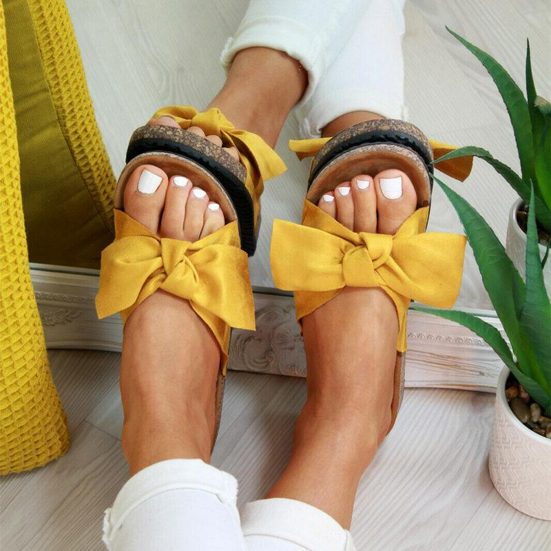 Butterfly Bow Slip on Sandals