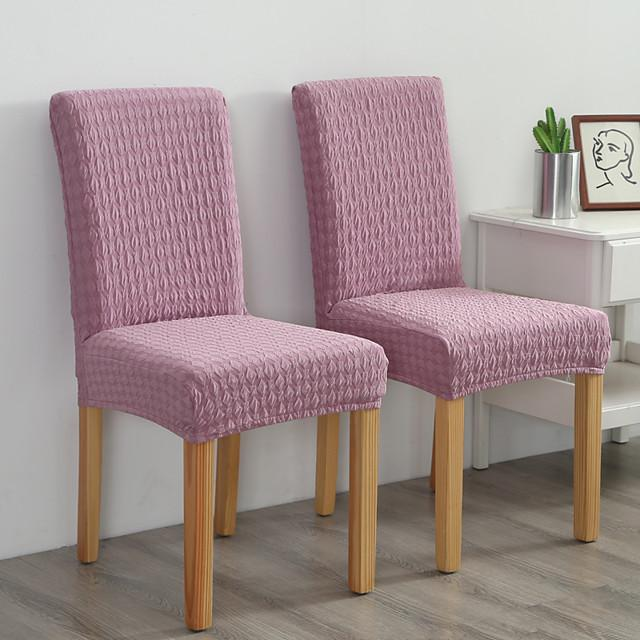 Chair Cover Solid Colored Jacquard Polyester Slipcovers