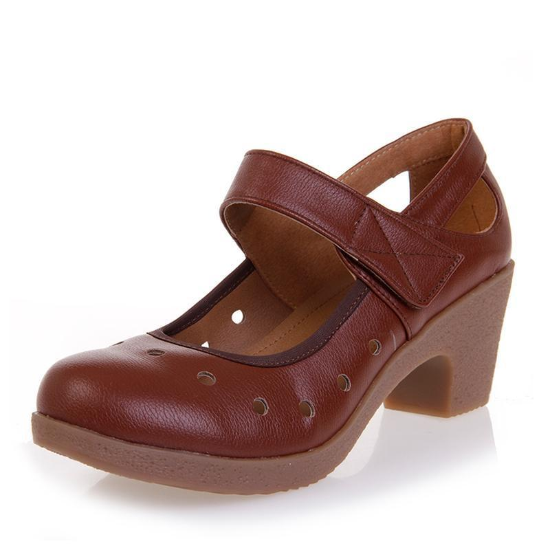 Ladies genuine leather shoes