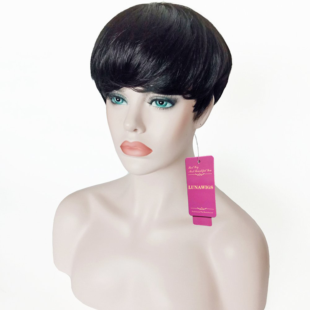 Luna Wigs Short Style Pixie Cut Synthetic Hair Wigs