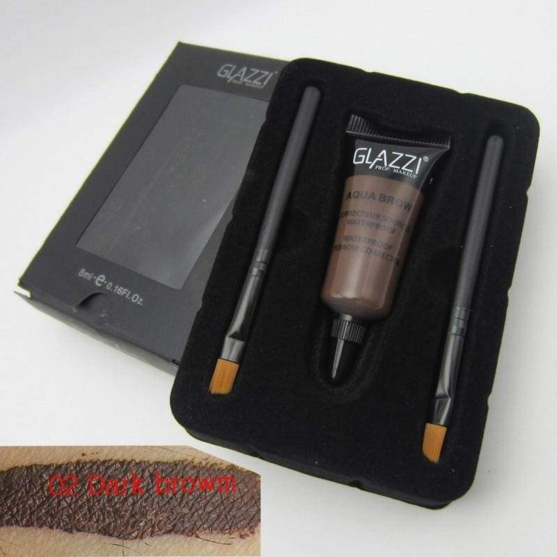 Professional High Eye Tint Cosmetic 2 Pcs Per Set Brow Brushes With 1 Pigment Tattoo Cream