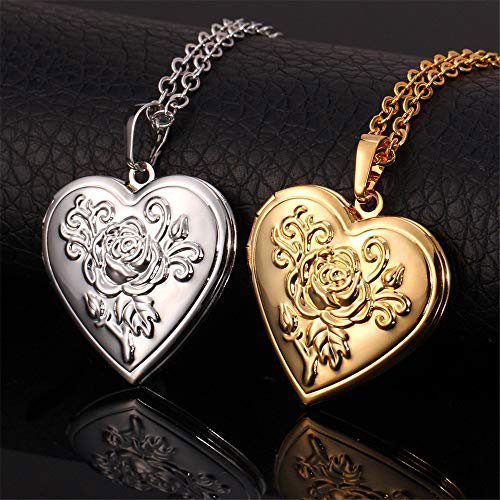 Plated Romantic Heart Locket (with Free Heart Projection Necklace)