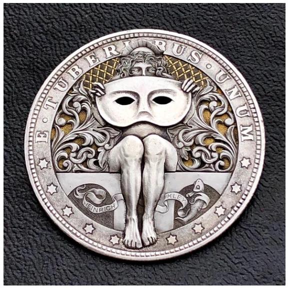 【The most popular collectors】Carving on Morgan Silver Dollar