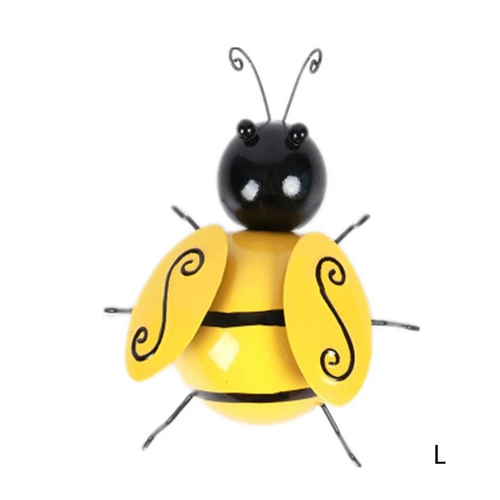 Decorative Metal Bumble Bee Wall Ornament