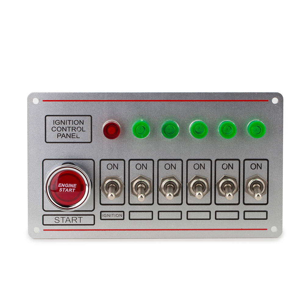 12V 40A switch panel For racing car Ignition Switch+6 toggle quick off switch Engine start button with 6 Indicator Light