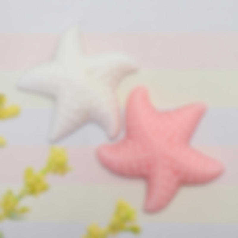 Pink White Starfish Mochi Squishy Squeeze Healing Toy Stress Reliever Gift Deco