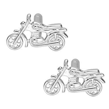 Cufflinks Moto Classic Basic Brooch Jewelry Silver For Daily Formal