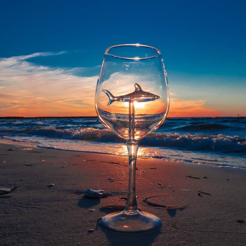 [🦈HOT SALE🦈] Hand-crafted Shark Red Wine Glass (set of 5)