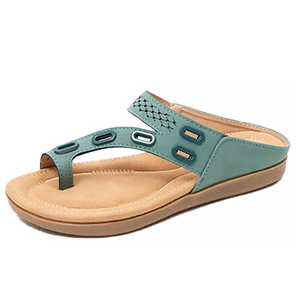 Higomore™ 2021 new women's sandals and slippers with flat massage feet