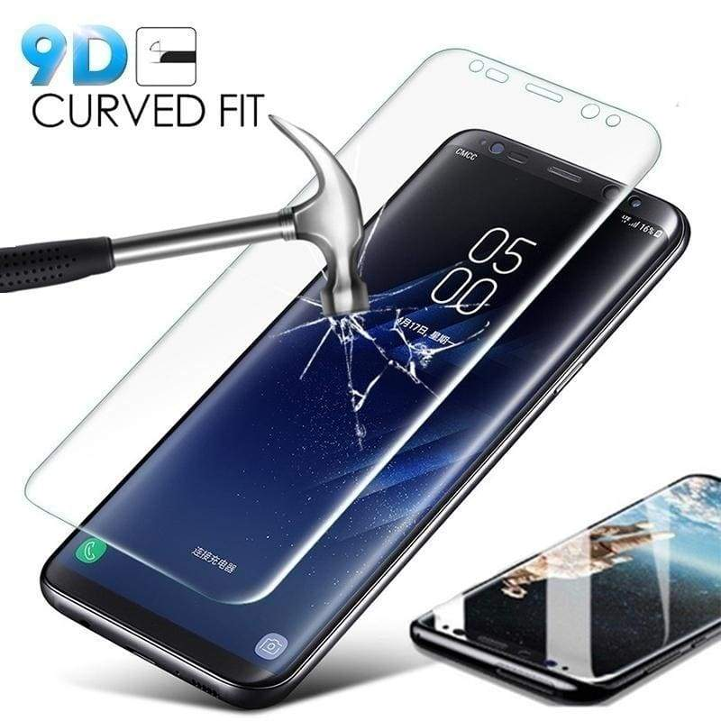 9D Explosion-proof Curved Tempered Glass for Samsung S10 Plus S10e S8 S8+ S9 Plus Galaxy Note 8 Note 9 Note 10 Plus Screen Protector Full Cover Film Verre Trempe