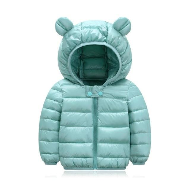 5y baby girls jacket kids boys Light down coats with ear hoodie spring girl clothes infant children's clothing  for boys-WT05
