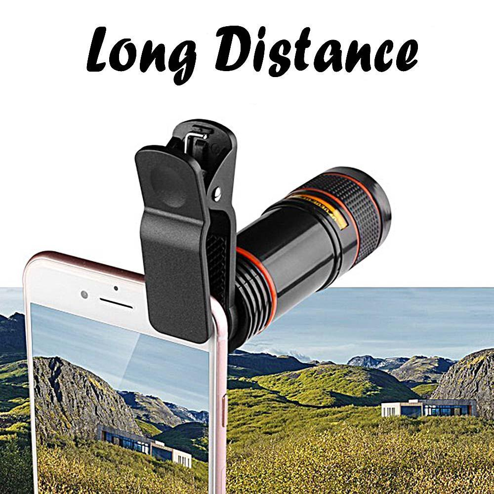2020 Hot Sale Mobile Phone Camera Lens 8X/12X Zoom Telephoto Lens External Telescope With Universal Clip for Smartphone