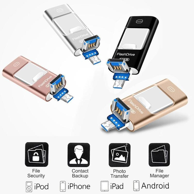 (❤️2021 Valentine's Day Promotion - 50% OFF) Portable USB Flash Drive for iPhone, iPad & Android