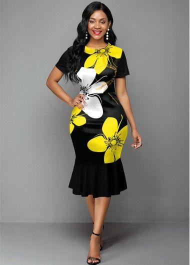 2020 Women Dress Casual Dress Print Smart Casual Outfit Casual Maxi Dress With Pockets