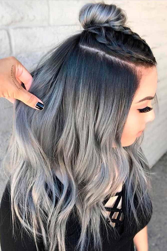 Gray Wigs Lace Hair Beautiful White HairGrey Hair At 30 Years Old