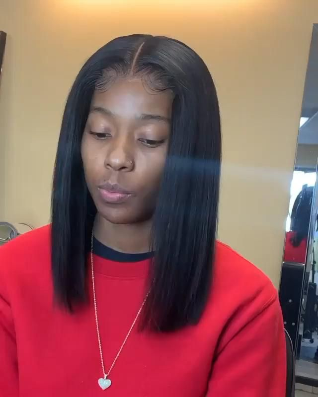 2020 New Straight Wigs Black Long Hair Honey Blonde Wigs For African American Black And Purple Bob Wig
