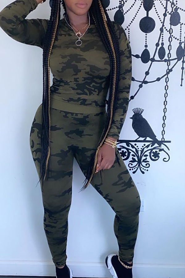 Camouflage Sports Two-piece Set