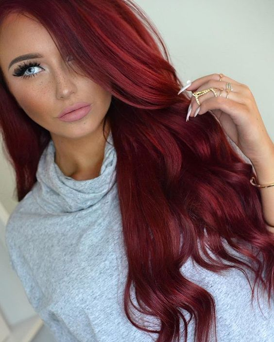 Lace Frontal Wigs Red Hair Long Copper Hair Pink And Purple Ombre Wig Big Hair Style Boy Dreadlocks Hairstyles 2018 Free Shipping