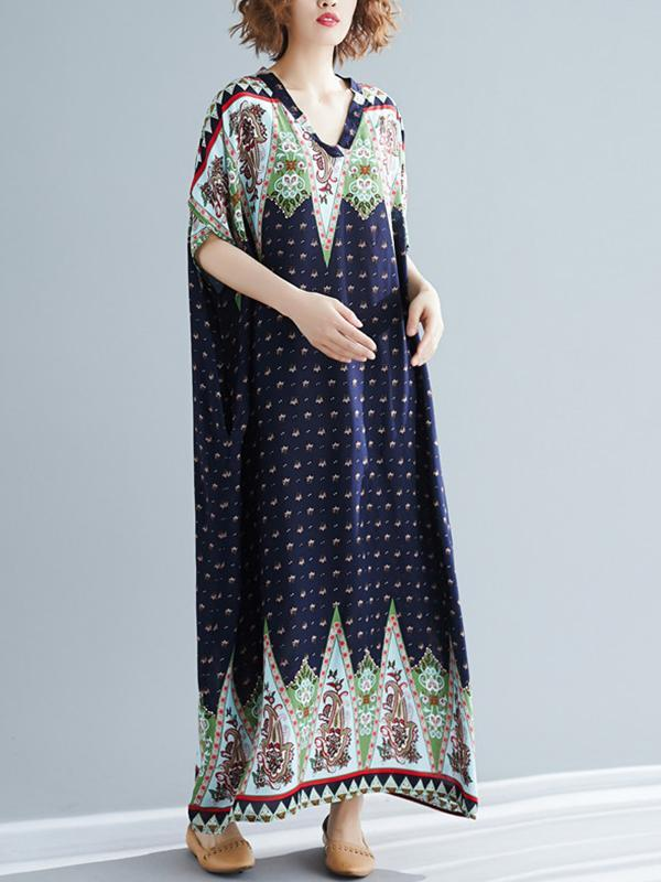Tipping Patterns Dots Kaftan Dress