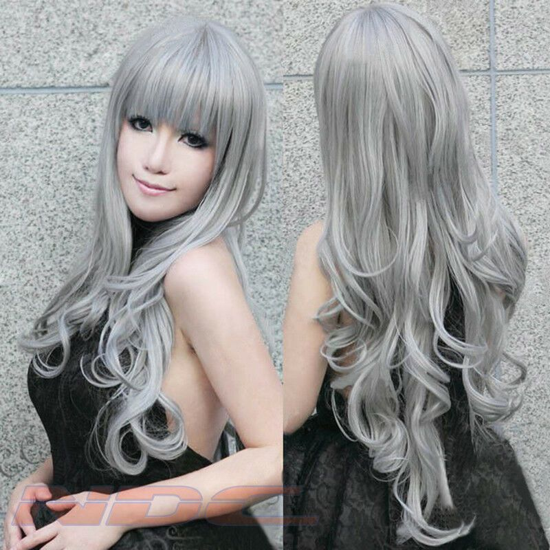 Gray Hair Wigs For African American Women Toni Braxton Wigs Premature Gray Hair Cher Wig Short Curly Wigs With Bangs Luna Wigs For Black Women