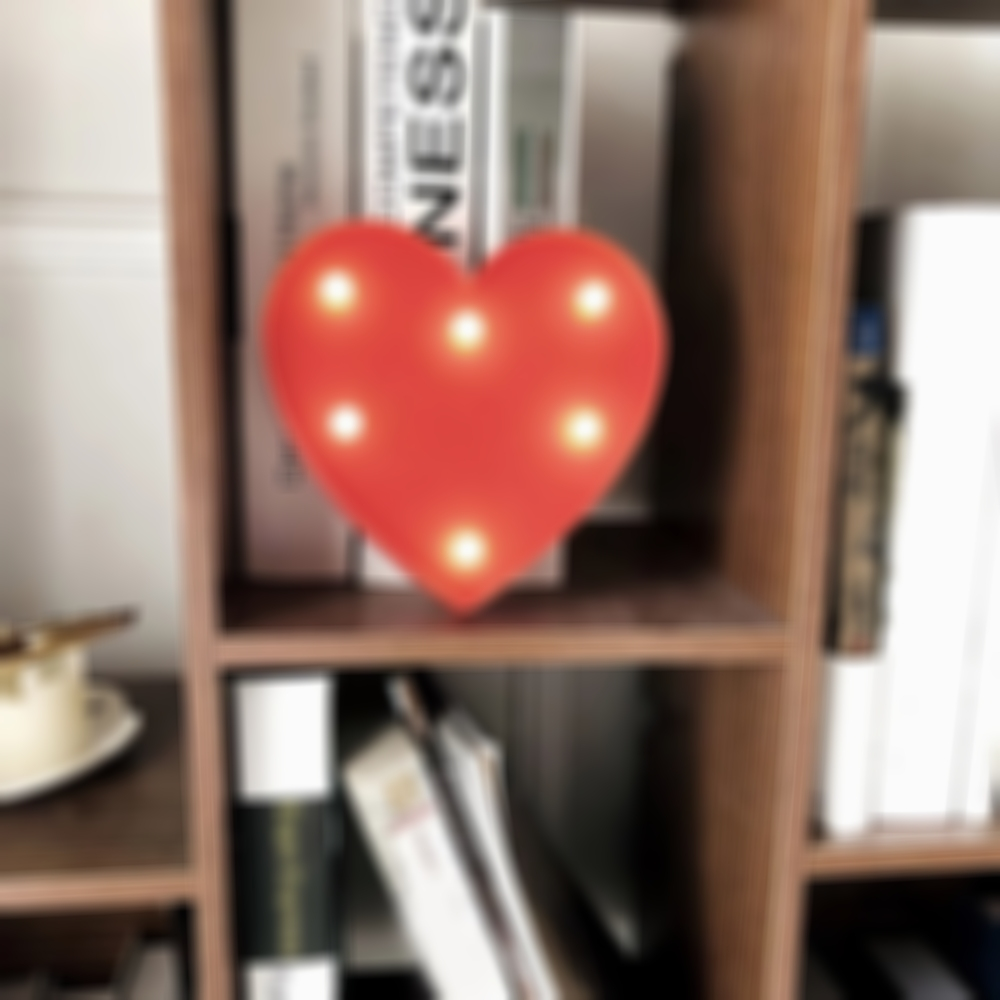 Led Night Light Heart Shaped Night Light Decoration Lamp for Birthday Party Valentine Day