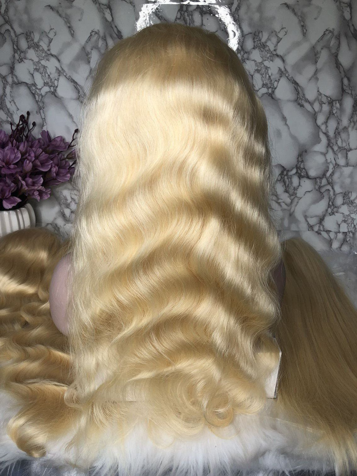 2020 Fashion Ombre Blonde Wigs 613 Human Lace Wig