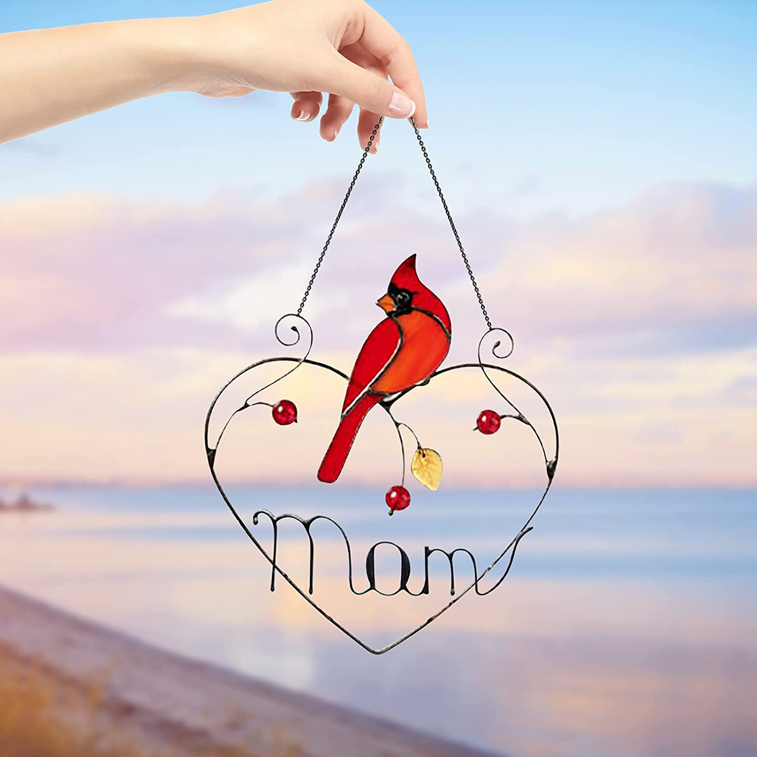 🎁Best Gift for Mother's & Father's Day🐦Birds Stained Glass Window Hangings