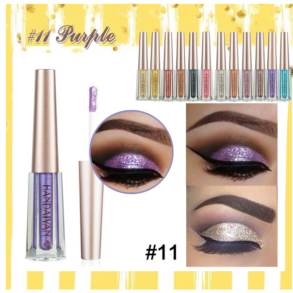 🔥BUY 2 GET 1 FREE🔥 12 Color Diamond Glitter Liquid Eyeshadow--Get Free Eye Makeup Stencils