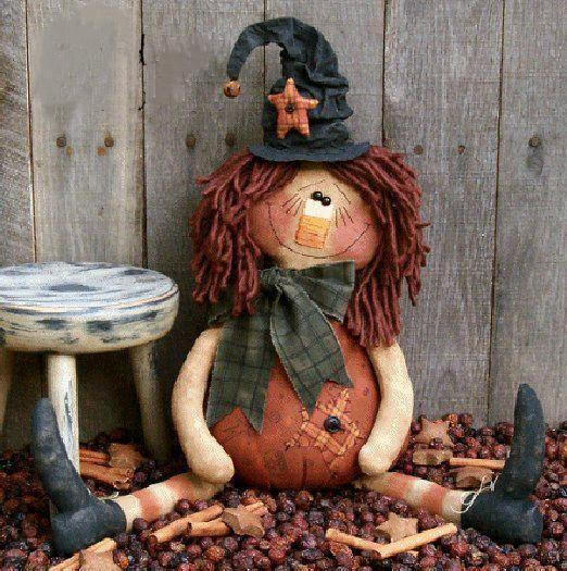 Halloween tattered doll