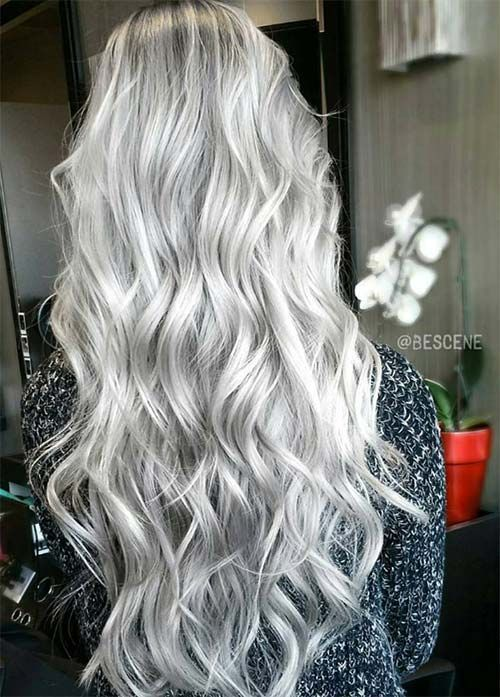 2020 New Gray Hair Wigs For African American Women Virgin Human Hair Wigs Jennifer Grey Hair Gray Hair With Pink Highlights 6X6 Closure Wig Curly Lace Wig Human Hair