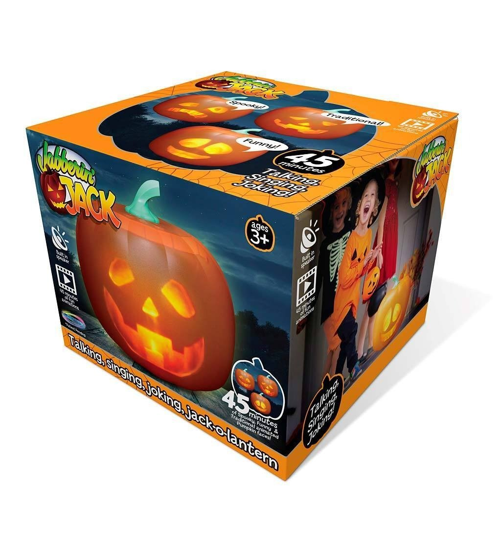 🔥HOT SALE! 2020 New Halloween Talking Animated Pumpkin with Built-In Projector & Speaker
