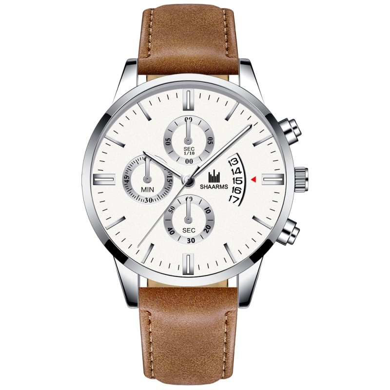 Fashion Luxury Men's Casual Business Watch Leather Strap Date Display Dial Men's Sports Outdoor Quartz Watch Relogio Masculino