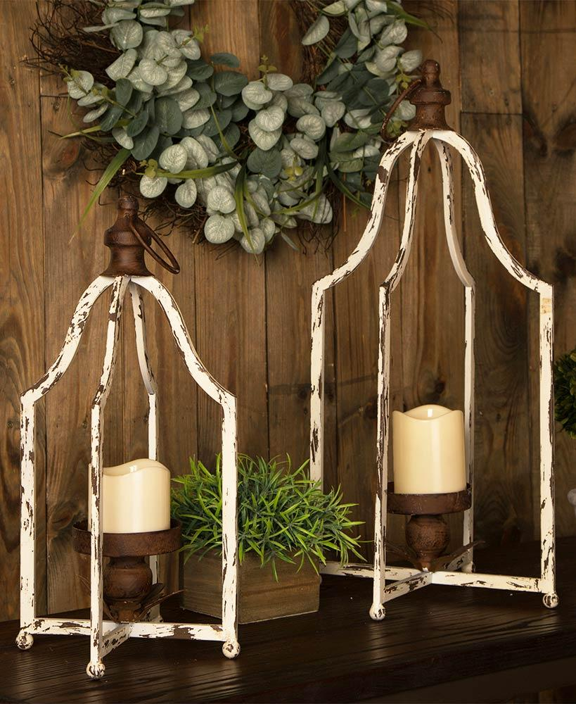 Vintage Metal Farmhouse Lanterns