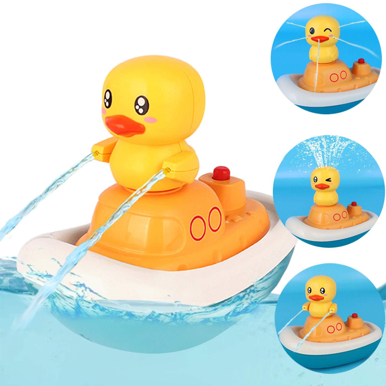 Electric Water Spray Toys-Rotate Boat with 3 Fountain Methods Ducks