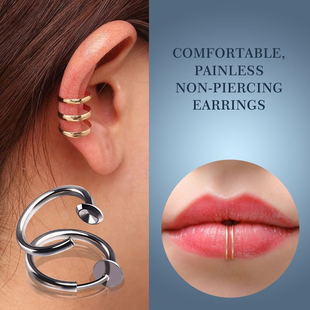 Retractable earrings without punching-🔥LIMITED TIME OFFER🔥 -【ONLY $3.4 EACH】- ALL 7 COLORS(14PCS)