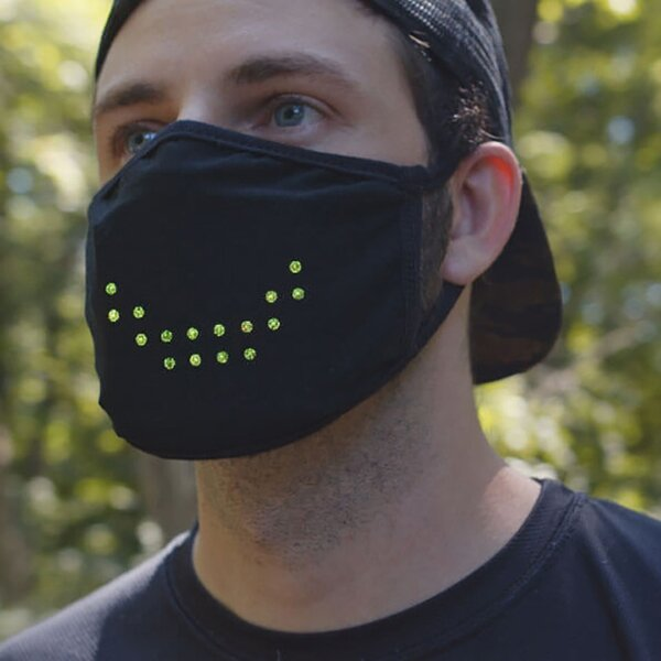 LED Voice Control SMART Mask - Imitates Lips Speaking, Fun Voice-activated Mask