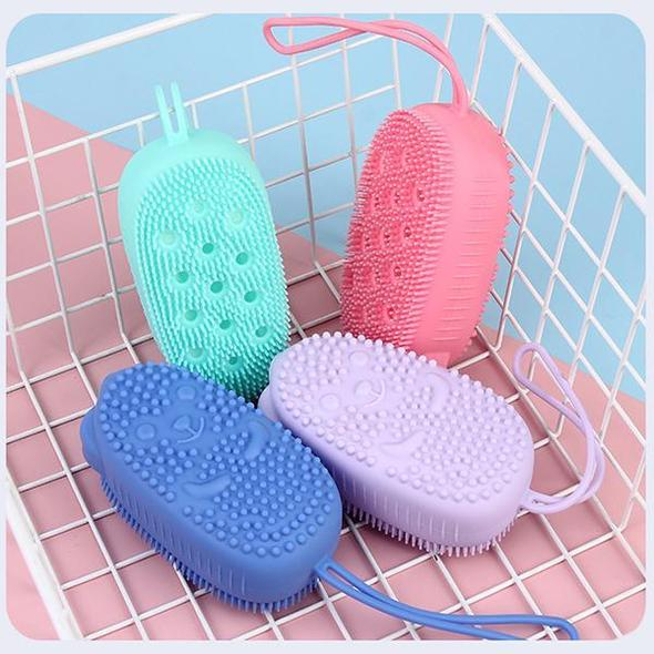 Shower-Gel-In Silicone Massage Bath Brush