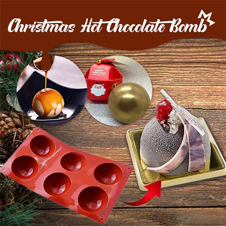 【🎅Christmas special】Chocolate Bombs Making Mold | Hemisphere Cake Mold