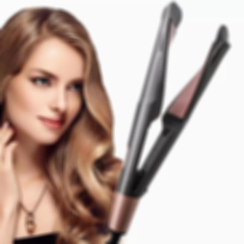 2 in 1 Hair Straightener and Curling Iron Ceramic Tourmaline-buy 2 free shipping