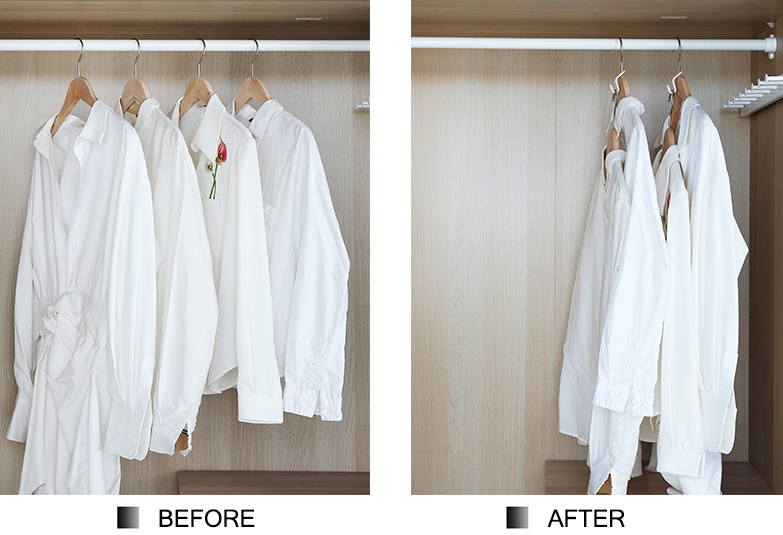 Clothes Hanger Connector Hooks—Super Space Saving for Closet