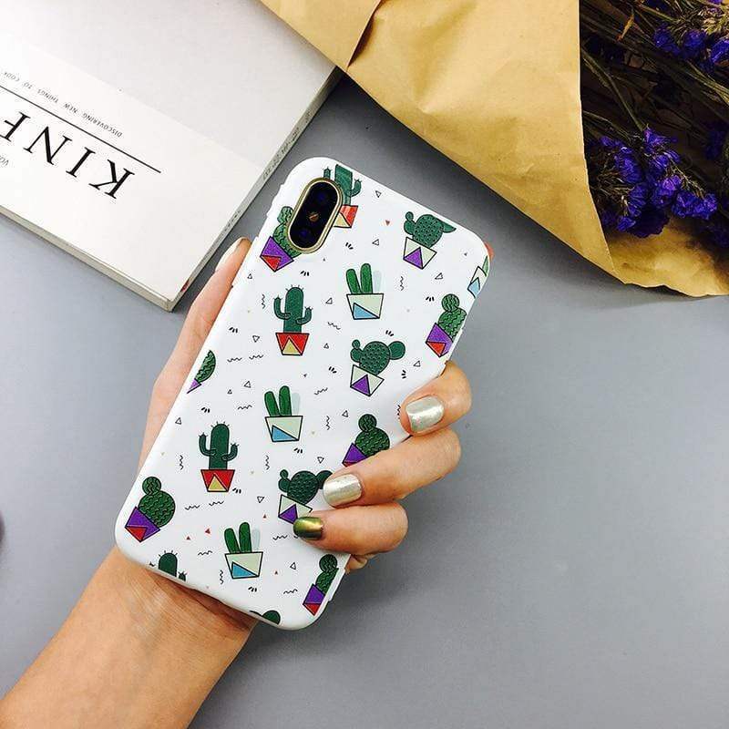 Cartoon Cactus Case